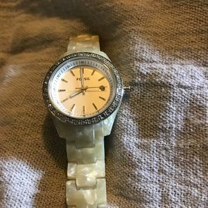 Just in Genuine Fossil Marble band watch
